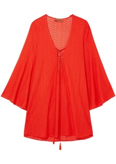 Missoni Mare Woman Mare Pizzo Crochet-knit Kaftan Tomato Red