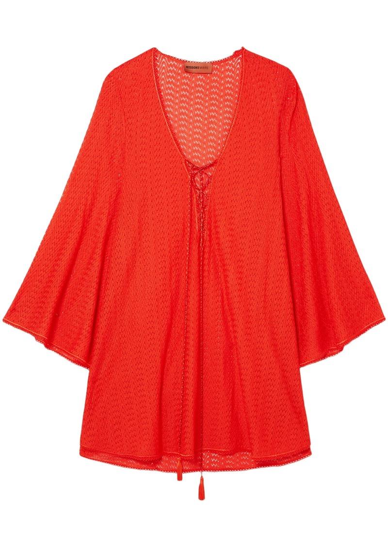 Missoni Mare Woman Mare Pizzo Crochet-knit Kaftan Tomato Red