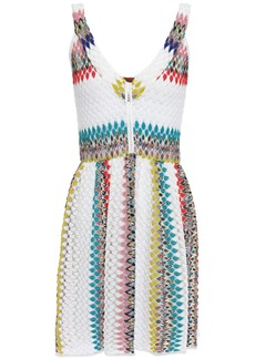 Missoni Mare Woman Mare Striped Crochet-knit Mini Dress White