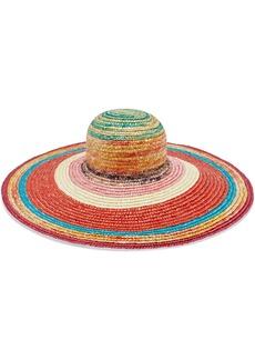 Missoni Mare Woman Mare Striped Woven Straw Sunhat Multicolor
