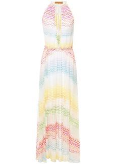 Missoni Mare Woman Mare Tie-front Ruffle-trimmed Crochet-knit Maxi Dress White