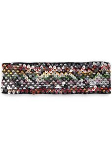 Missoni Mare Woman Sequined Crochet-knit Headband Black