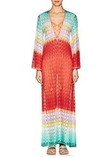 Missoni Mare Women's Lace-Up Striped Geometric-Knit Long Caftan