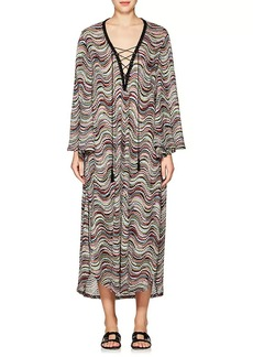 Missoni Mare Women's Lace-Up V-Neck Caftan