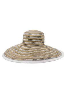 Missoni Mare Woven metallic-straw hat