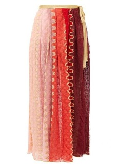 Missoni Mare Wrap-around knitted midi skirt