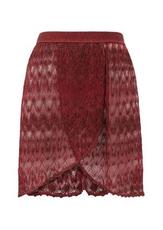 Missoni Mare Wrap-style lace-knit mini skirt