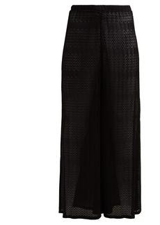 Missoni Mare Zigzag crochet-knit wide-leg trousers