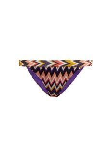 Missoni Mare Zigzag-knit bikini briefs