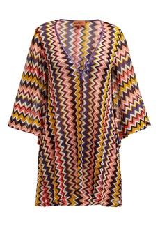 Missoni Mare Zigzag knit V-neck kaftan