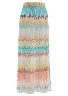 Missoni Mare Zigzag-knitted maxi skirt