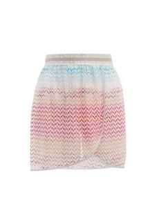Missoni Mare Zigzag-knitted mini wrap skirt