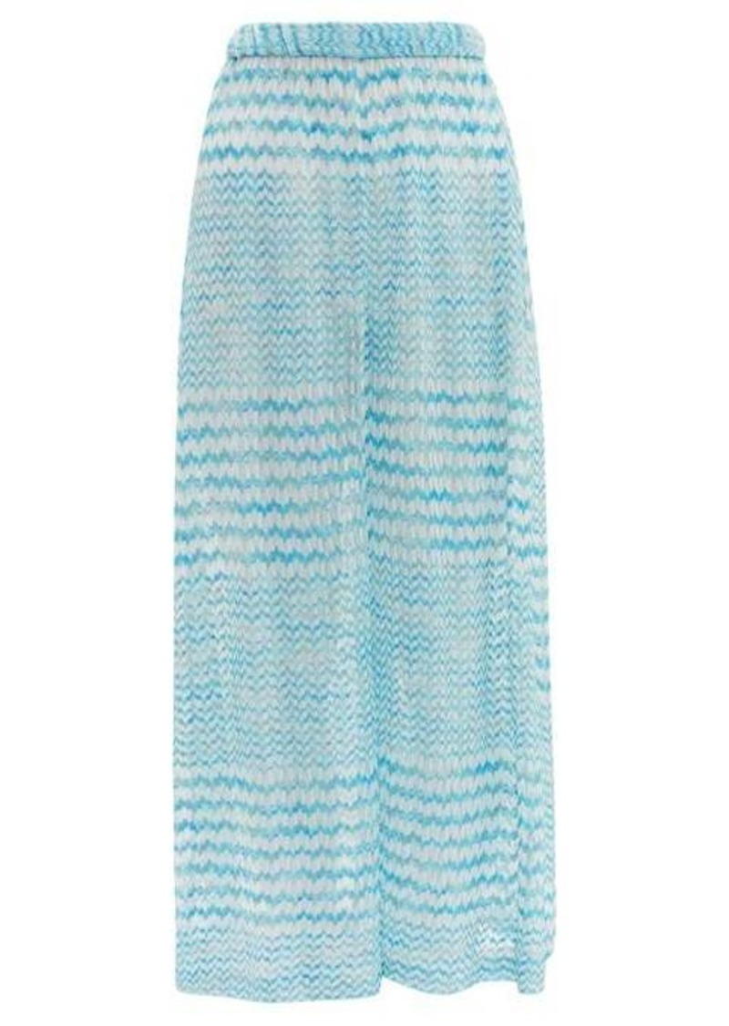 Missoni Mare Zigzag-knitted wide-leg trousers