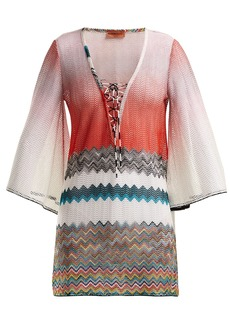 Missoni Mare Zigzag lace-up kaftan