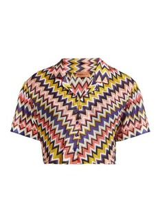Missoni Mare Zigzag short-sleeved cropped shirt