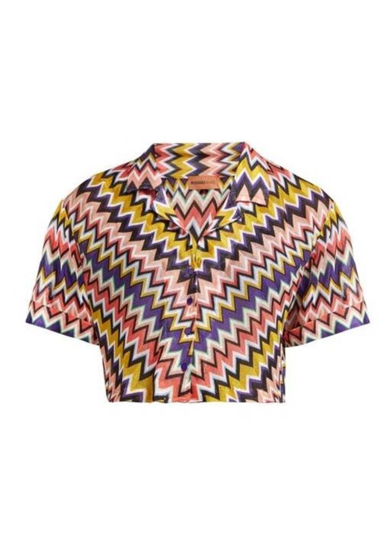 Missoni Mare Zigzag short-sleeved cropped shirt