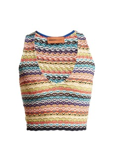 Missoni Mare Zigzag-striped cropped top