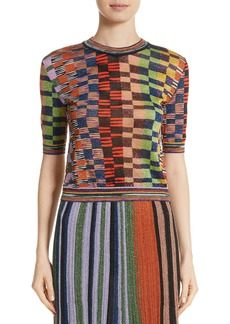 Missoni Metallic Box Knit Top