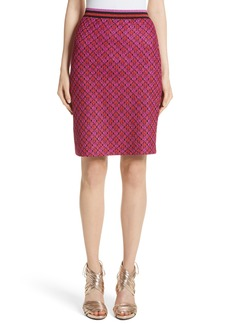 Missoni Metallic Crisscross Knit Pencil Skirt