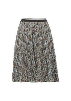 Missoni Metallic diamond-knit skater skirt