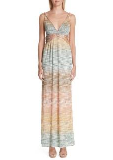 Missoni Metallic Knit Maxi Dress