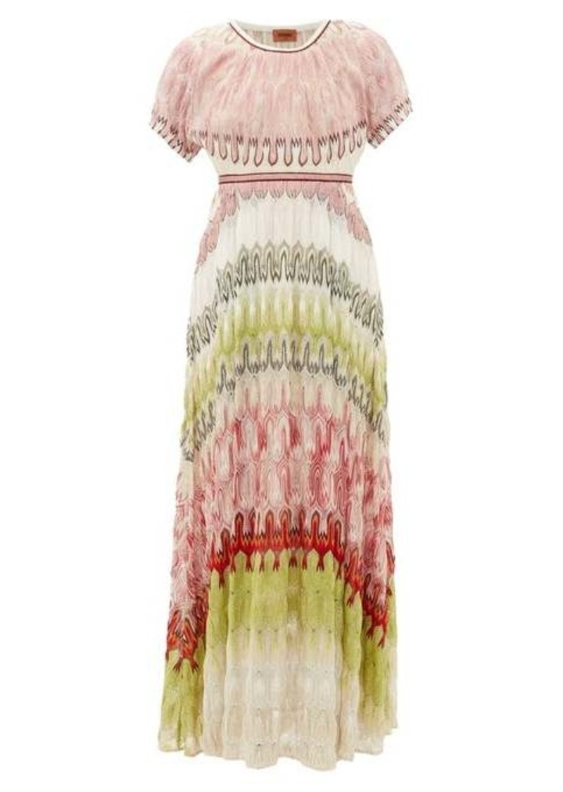 Missoni Metallic-knit maxi dress