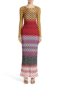 Missoni Metallic Knit Maxi Dress