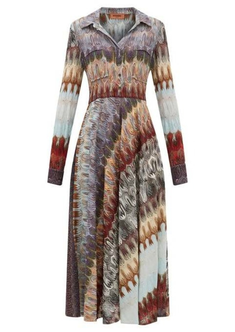 Missoni Metallic-knit shirtdress