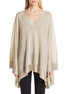 Missoni Metallic Poncho Sweater