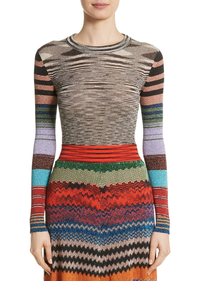 Missoni Metallic Space Dye Knit Sweater