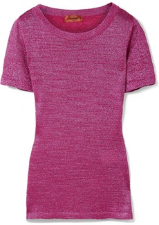 Missoni Metallic stretch-knit T-shirt