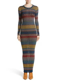 Missoni Metallic Stripe Knit Maxi Dress