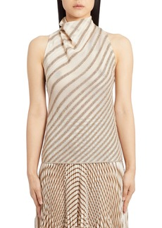 Missoni Metallic Stripe Knit Top