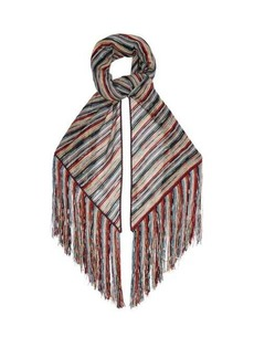 Missoni Metallic stripe-knit wrap scarf