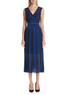Missoni Metallic Stripe Midi Dress