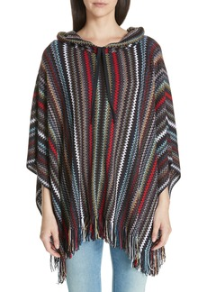 Missoni Metallic Zigzag Hooded Poncho