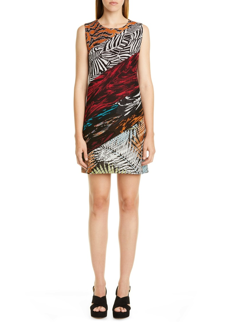 Missoni Mixed Pattern Sleeveless Mindress