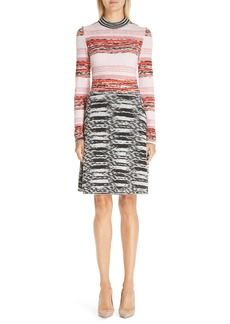 Missoni Mixed Pattern Wool Blend Dress