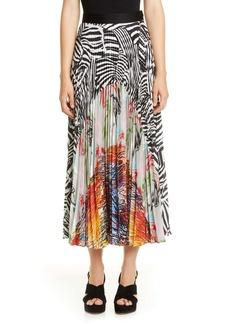 Missoni Mixed Print Pleated Maxi Skirt