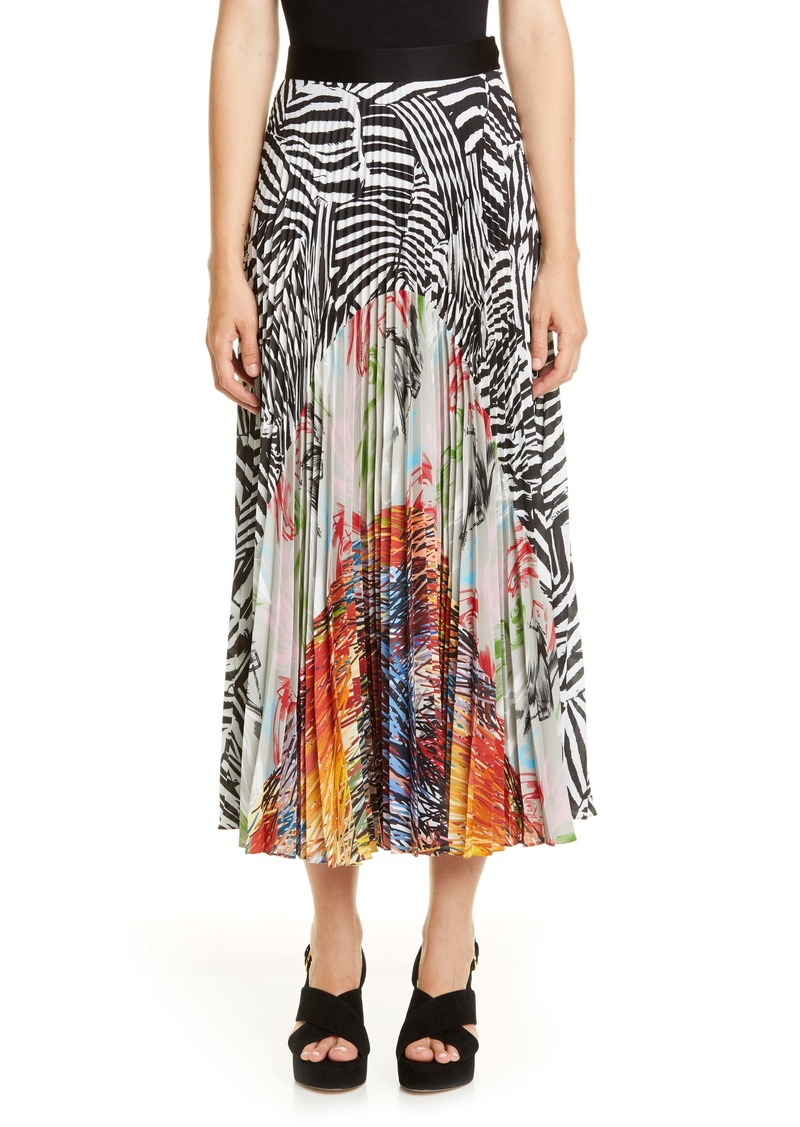 Missoni Mixed Print Pleated Maxi Skirt