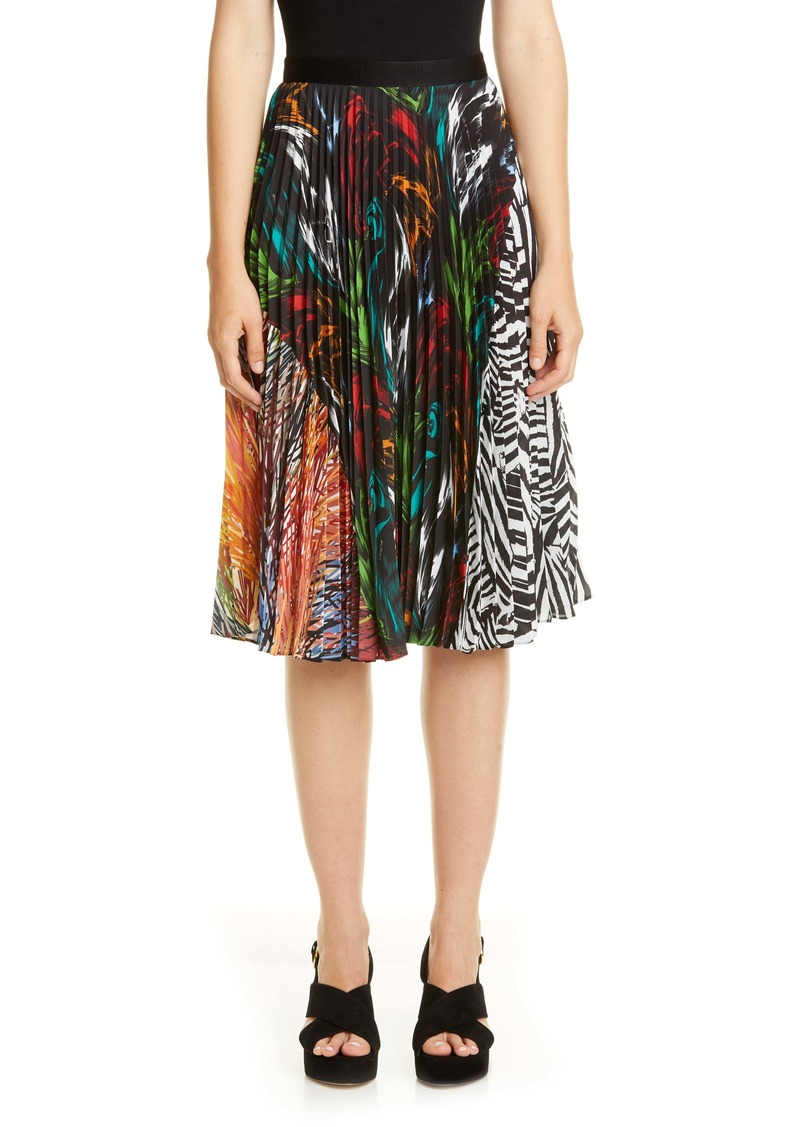 Missoni Mixed Prints Pleated Skirt