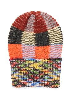 Missoni Multicolored Check Knit Hat