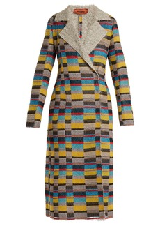 Missoni Notch-lapel patchwork-bouclé coat