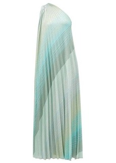 Missoni Pleated lurex-knit dress