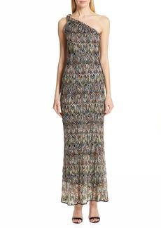 Missoni One-Shoulder Pointelle Maxi Dress