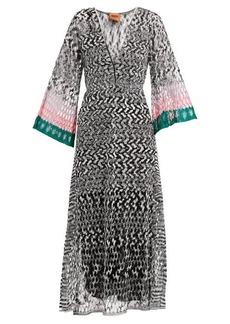 Missoni Open-knit V-neck dress
