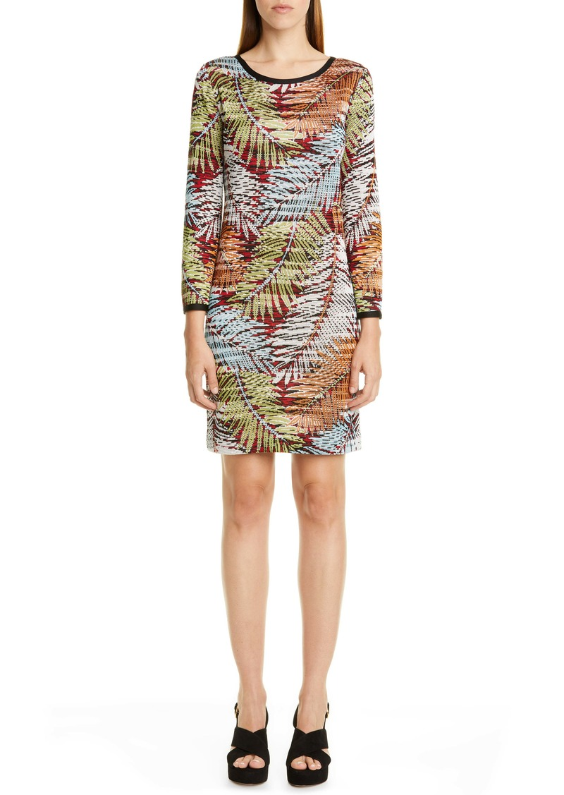 Missoni Palm Leaf Pattern Minidress