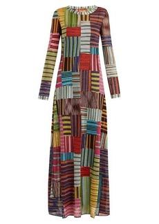 Missoni Patchwork Lamé round-neck dress
