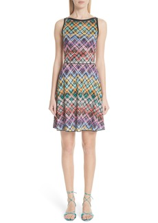 Missoni Plaid Knit Fit & Flare Dress