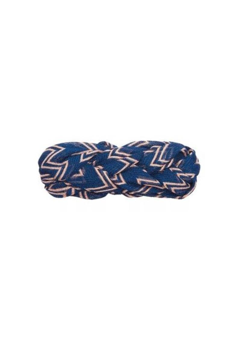 Missoni Plaited zigzag mesh headband